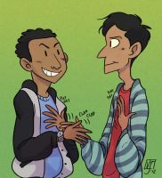 Troy and Abed by vern-argh