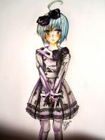 piko, in a dress. by KaitouCoon