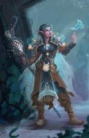 Favored by Elune - Night Elf Druid by LaurenWalsh