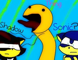 Sonic,Shadow and the thing? by sonicandshadowfan