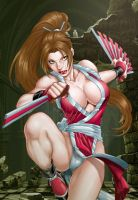 Mai Shiranui by Ed Benes by tony058