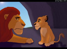 Simba and Scar by Lilion-Bayl