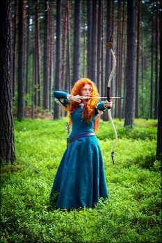 Merida the Brave by Watarielle