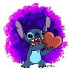 Stitch gives you his heart! by Burning-Heart-Brony