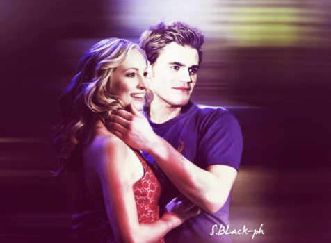 Stefan and Caroline  manip by SrsBLck