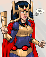 Commission for AtomicTiki 03 Big Barda by theEyZmaster