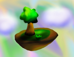 Floating Island by TheCreatorOfSoften