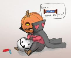 Halloween Snickers by KindCoffee
