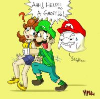 Mario: Help A Ghost by MagicMikki
