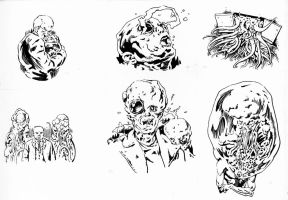 Spot illustrations for The Electric Eye by Dubisch