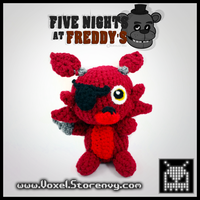 Foxy (Five Nights at Freddys) by VoxelPerlers