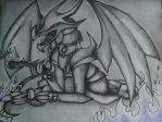 Malassa as Red Eyes Black Metal Dragon by WithinATragedy