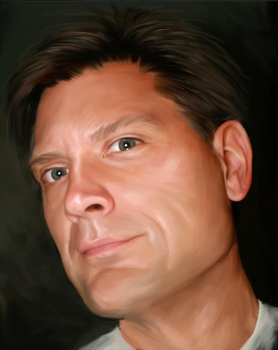 Digital Painting Self Portrait by gregchapin
