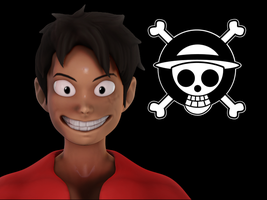 Luffy Render photoshop and z brush by Freshmeet