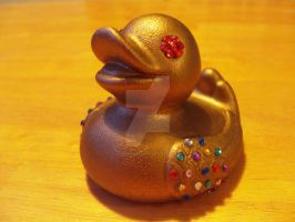 Golden duck by iamwinterborn