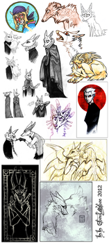 Sketch Dump 11 by CanisAlbus