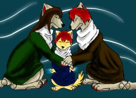 Sasori, father, mother by LunaWolf444444Neko