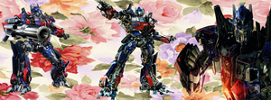 Optimus Prime Flower Facebook Cover by kari5