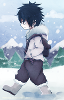 Ice Trail Gray Fullbuster by ponchiz