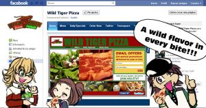 Wild Tiger pizza and salad by Dr-Innocentchild