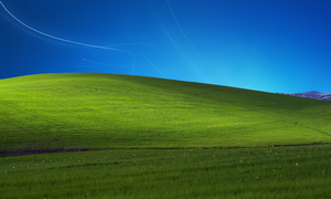XP Bliss with Windows 7 sky by NhatPG