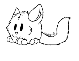 Fat Cat Lineart by intoxicated-with-paw