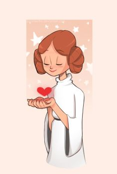 Princess Leia by bonnieefire