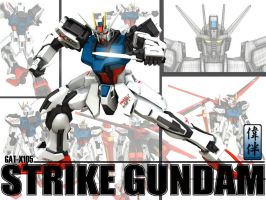 Strike Gundam: Armor Schneider by sandrum