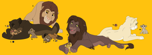 Free Lion Double Family Adoptables: All Taken! by Tams-secret-twin