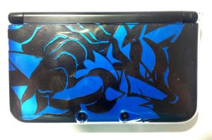 Mega Lucario 3DS XL case by Sa-Dui