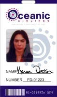 Oceanic Airlines ID Badge by CmdrKerner