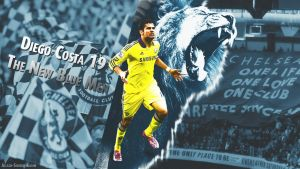 Diego Costa - The New Blue Men   2014/2015 by eL-Kira