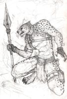 Kiriban 1000: Cheetah Warrior by scorn-maniac