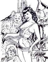 Bettie Page in OZ by teddy09