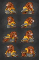 Commission: Kuri-Do's Expression Sheet by Temiree