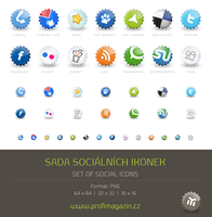Set of social icons by Tydlinka