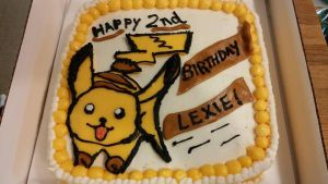 Pikachu Birthday Cake by Ember-lacewing