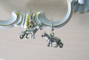 Wild Wolf Earrings by MonsterBrandCrafts