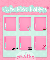 Cute Pink Folders by PelushitaPetisuit
