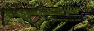 Bluefin Assault Rifle with Liberator Camouflage by Alligator-Fists