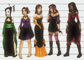 Dark Dress-Up Line-Up by CarmenFoolHeart