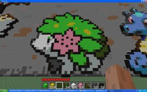 Shaymin Land Form On Minecraft by Miccopicco