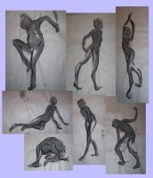 Figure Drawing_Wash Collage by DeltaVT