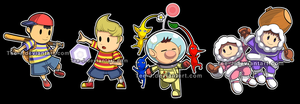 Smash Stickers: Earthbound feat Set by Tee-J