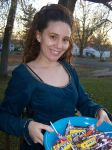 Me handing out candy by rdaassoc07