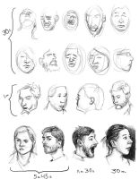 Head Drawing Session June 15 2014 by bgates87