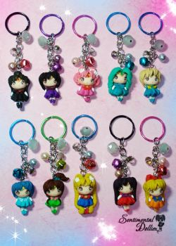 Sailor Moon Crystal Keychains by SentimentalDolliez
