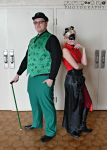 Harley Quinn and the Riddler by ThexDarkenedXLight