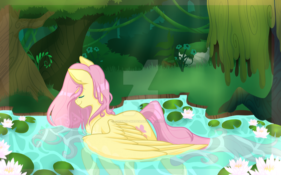 Fluttershy Print 2017 by Twisted-Sketch