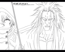 Bleach 573 - I am Kenpachi - Lineart by DEOHVI